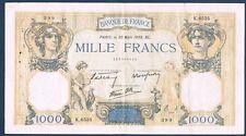 FRANCE - 1000 FRANCS C & MERCURE Fay n° 38. 35 du 30-3-1939. en TTB  K.6535 399