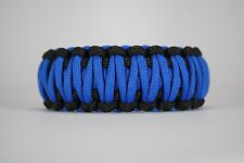 550 Paracord Survival Bracelet King Cobra Black/Blue Camping Tactical Military