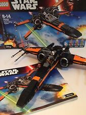 Lego 75102 Poe's X Wing Fighter in box with minifigures