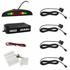 4 Parking Sensors LED Display Vehicle Car Auto Backup Reverse Radar System Alarm