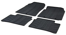 High Quality Black Rubber Tailored Car Mats - Kia Picanto (11 on) + Clips