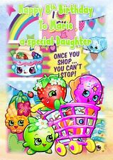 Personalised birthday card Shopkins any age daughter sister grandaughter nlb