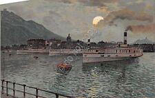 Cartolina - Illustrata - Lago di Como - Navi - Navigazione Lariana