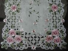 "16x54"" Embroidery Rose Organza TableClothes Table Runner linen Home Spring"