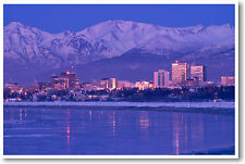 Anchorage Alaska - USA America City Travel Print  - NEW POSTER