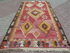 "Antique Turkish Rugs For Sale,Antalya Nomads Kilim 69,6""x136,6"" Area Rugs,Carpet"
