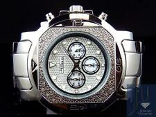 Mens Jojo/Jojino XL Big Face Stainless Steel 55 MM 0.25 Ct Diamond Watch MJ-1224