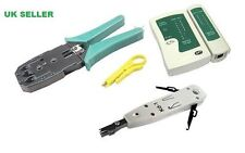 RJ11 RJ45 Cat5e PC crimping arrugador Stripper Probador De Cable Red Lan Kit Herramienta