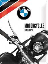 BMW Moto Dal 1923,Motocicletta Bicicletta Garage,Large 3D Metallo Goffrato