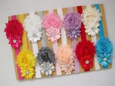 12 Stücke   Baby Mädchen Blumen Haarband Haarschmuck  Elastisch Dekoration