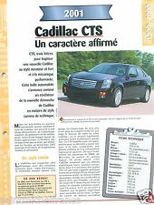 Cadillac CTS 3,2 V6 General Motors 2001 USA Car Auto Voiture FICHE FRANCE