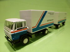 LION CAR 75 74 DAF 2100 TURBO TRUCK + TRAILER - DAF NEDERLAND - WHITE 1:50 - VG