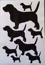Basset Fauve de Bretagne vinyl stickers, decals, for car, window