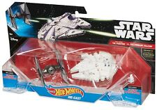 HOT WHEELS STAR WARS TIE FIGHTER vs. Millennium Falcon Starship 2-Pack - figure