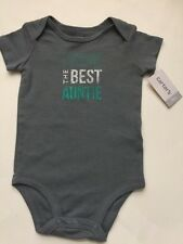 "Carters Baby Boy 9 M One Piece Bodysuit ""I HAVE THE BEST AUNTIE"""