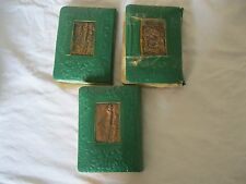 Bezalel Copper 3 Holidays Prayer Books Machzor Set Jerusalem 1930s Judaica Safe