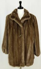 Tissavel Faux Fur Womens Coat Jacket Brown Imported Fabric France 16