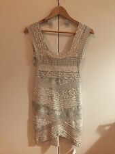 HERVE LEGER Dress Size M Medium Batik Dove Grey Cut Out Bandage NWT NEW