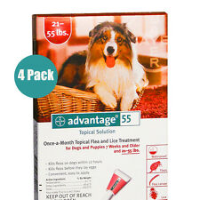 Bayer Advantage Red For Large Dogs 21-55 lbs 4 PACK FREE SHIPPING