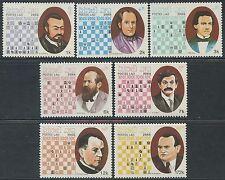 LAOS N°890/896** Echecs, 1988 Chess Sc#901A-G MNH