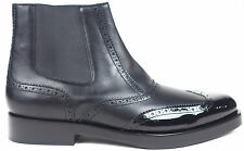 Balenciaga Men's Black Perforated Trim Wingtip Chelsea Ankle Boots 45 11.5 $995