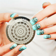 Nail Art Stamp Stamping Template Image Plate Full Flower Pattern #Qgirl-030