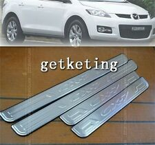 DOOR SCUFF SILL SILLS PANEL STEP PLATES STAINLESS For MAZDA CX-7 CX7 2007-2011
