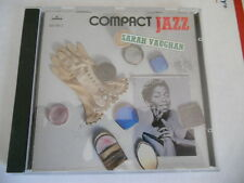 SARAH VAUGHAN - COMPACT JAZZ: SARAH VAUGHAN -Very Good Plus Plus + / CD