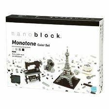 Nanoblock Monotone Colour Building Set