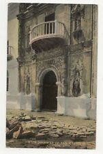 Main Doorway Of San Xavier Mission Tucson Ariz USA Vintage Postcard 315a