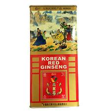 100% 6Year Korean Red Ginseng Good Grade Roots 300g(10.6oz) (11~20 root) Saponin