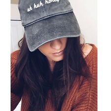 Last One! brandy melville Black Wash katherine Uh Huh Honey baseball hat NWOT OS