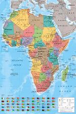 Mappa dell' Africa maxi dimensioni 91,5 x 61 cm (36 pollici x 24IN) POSTER scuola aiuti nuovi