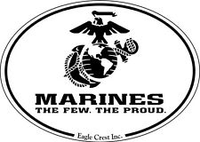 Military Magnet US Marines The Few The Proud Oval for Car Refrigerator Magnet