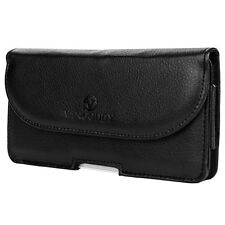 Black VanGoddy Belt Clip Holster wallet case for iPhone 6 Plus Motorola Nexus 6