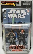 Hasbro 2006 Star Wars Comic Packs Quinlan Vos Vilmarh Grahrk action figures NIP