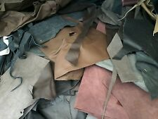 Scrap leather Upholstery  hide 1/2 pound remnants mixed  colors  great deal SOFT