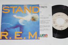 """R.E.M. -Stand / Memphis Train Blues- 7"""" 45 mit Product Facts Promo-Flyer"""