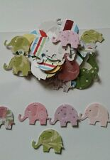 50 Mixed Martha Stewart Elephants for Cardmaking Scrap Booking baby cards