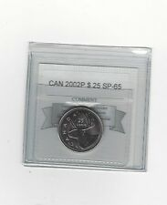 **2002P** Coin Mart Graded Canadian,  25 Cent, **SP-65**