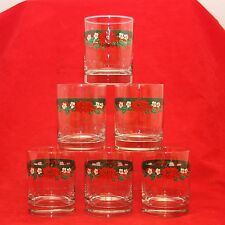 6 Tienshan Fairfield DECK THE HALLS One The Rocks Glass Tumblers