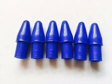 6 x Blue Plastic Accessory Endcaps Ulma Vigano Ardor for 12mm Tube PL12 Blue