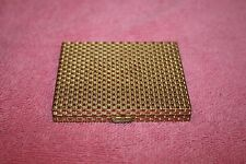 Revlon Mirror Powder Compact Gold-Tone Woven Metal Design with Puff