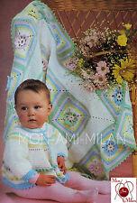 De Colección Chaqueta de bebé lindo patrón de ganchillo & manta de flores bonitas elevado-Pdf