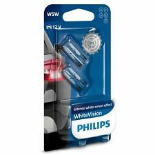 PHILIPS W5W, 501 WHITE VISION, X TWO BULBS IN THIS PACK.