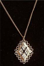 "Rhinestone Necklace ""CANDLELITE"" Sarah Coventry Jewelry - Sara Cov - Vtg"