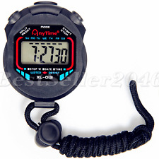 Waterproof Digital Handheld LCD Stopwatch Sports Chronograph Counter Timer Watch