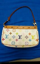 Authentic Louis Vuitton Monogram Multicolor Pochette Very Good used condition
