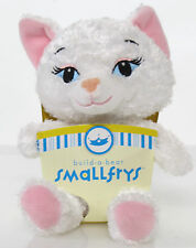 Build a Bear Smallfrys Sassy Kitty Cat White NIB  7'' Plush Rare