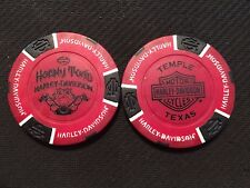 "Harley Davidson Poker Chip (Red & Black)  ""Horny Toad H-D"" Temple Texas"